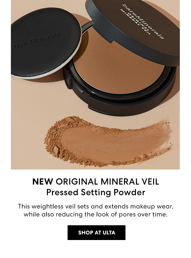 NEW ORIGINAL MINERAL VEIL Pressed Setting Powder - This Weightless veil sets and extends makeup wear, while also reducing the look of pores over time. - Shop at Ulta