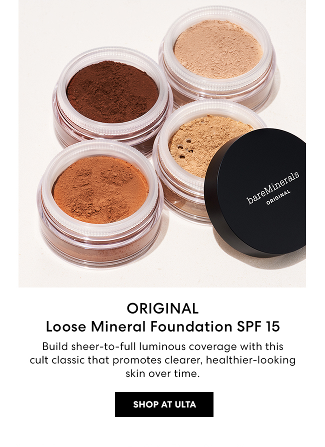 ORIGINAL Loose Mineral Foundation SPF 15 - Build sheer-to-full luminous coverage with this cult classic that promotes clearer, healthier-looking skin over time. - Shop at ULTA